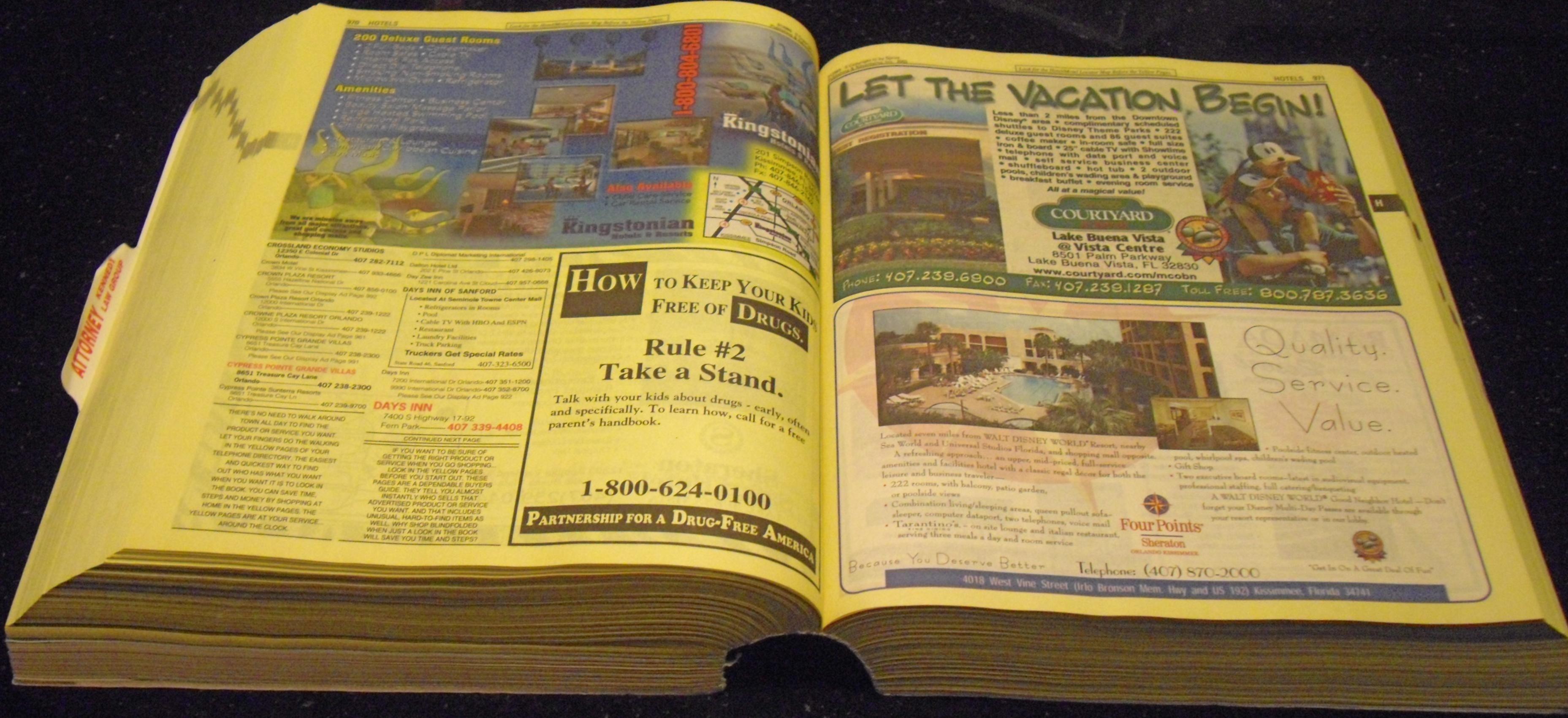 2002 Disney World, Buena Vista Telephone Directory !wow ...